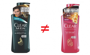 clearシャンプーメンズ用とレディース用の違い